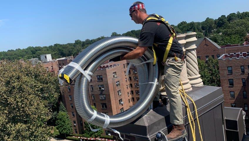 chimney liner installation by ageless chimney in long island