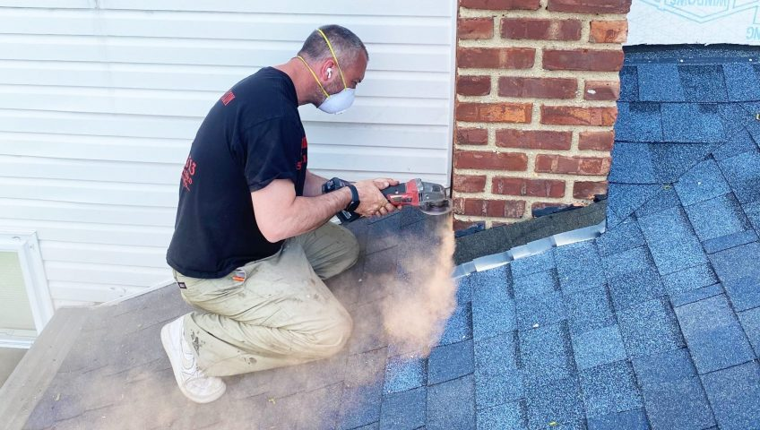 chimney flashing repair by owner at ageless chimney in new york long island