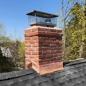 chimney flashing in copper completed by ageless chimney in long island new york